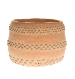 Cache Pot Ciment - Couleur Terracotta