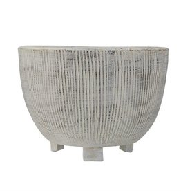 Footed Planter - Terra-Cotta Cream