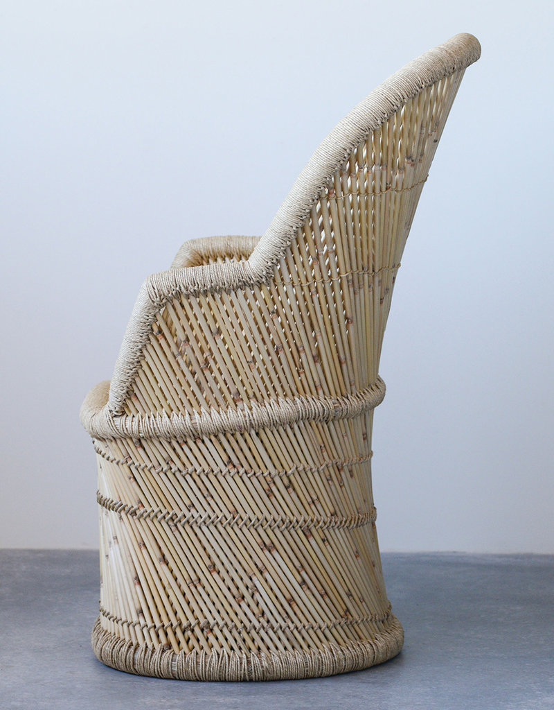 Bamboo & Rope Chair