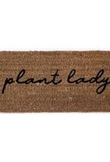 """Natural Coconut Fiber Doormat """"Plant Lady"""""""