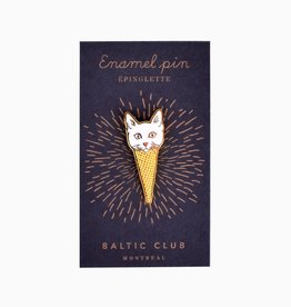 Baltic Club Enamel Pin - Ice Cream Cat