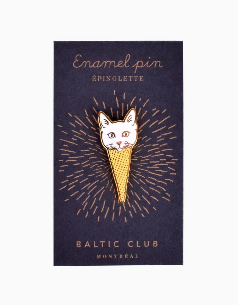 Baltic Club Enamel Pin - Ice Cream Cat