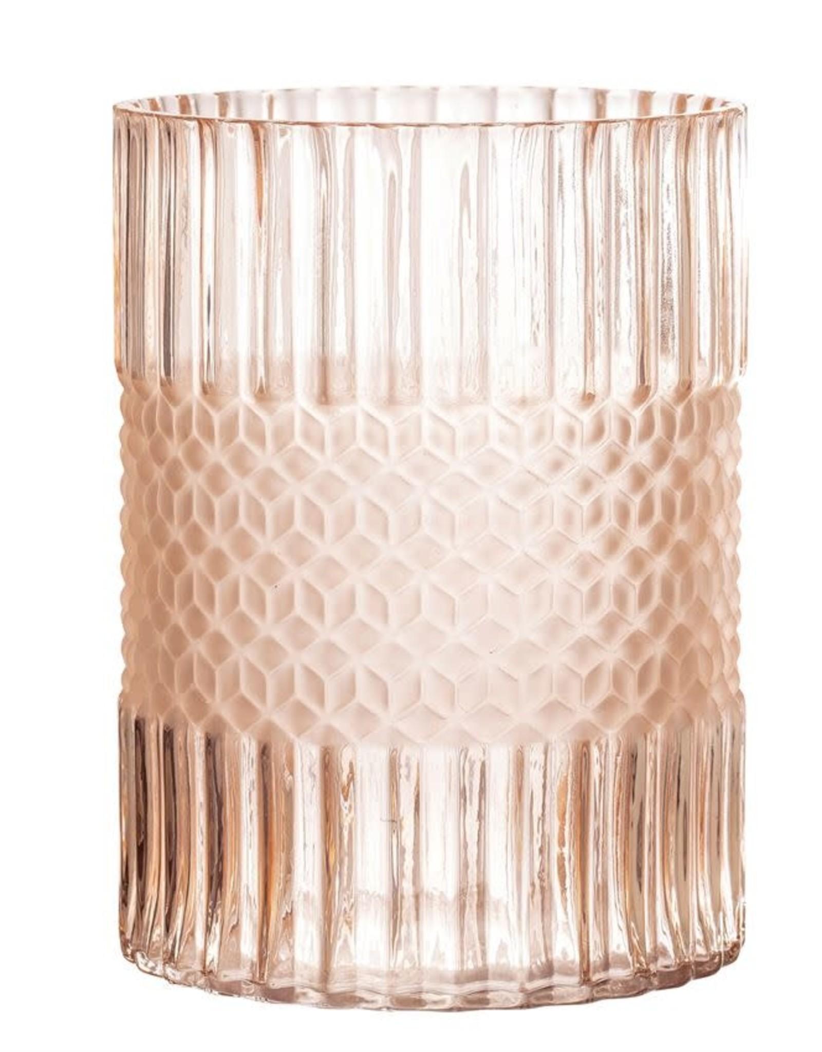 Glass Vase, Matte Blush