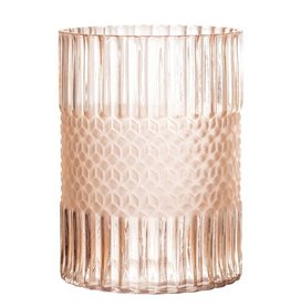 Glass Vase, Matte Blush