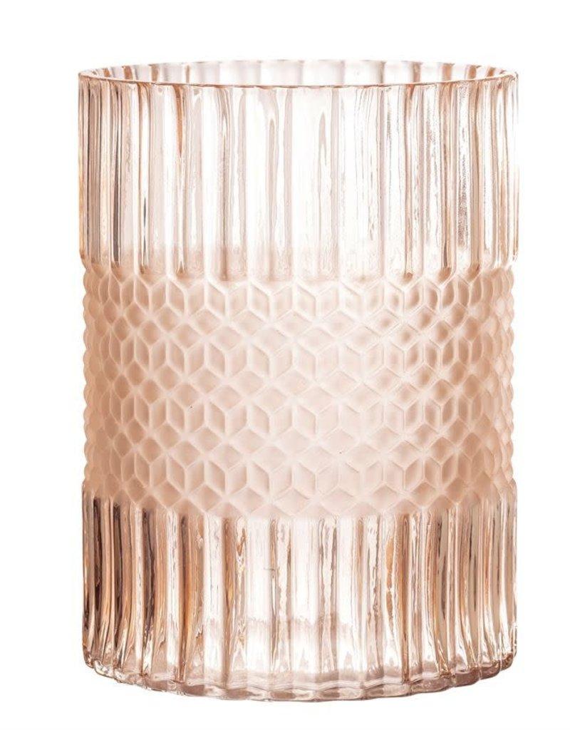 Vase en verre - Rose
