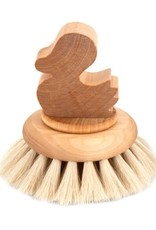 Iris Hantverk Bath Brush ''Duck'' w/ Knob