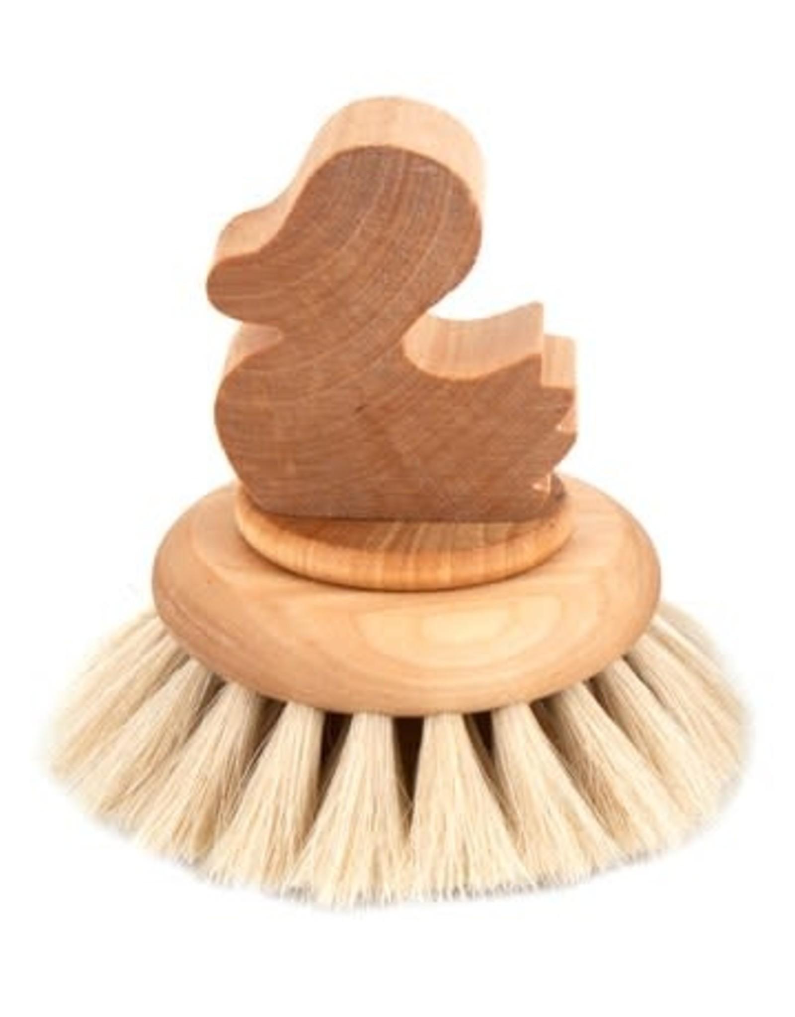 Iris Hantverk Bath Brush ''Duck'' w/ Knob