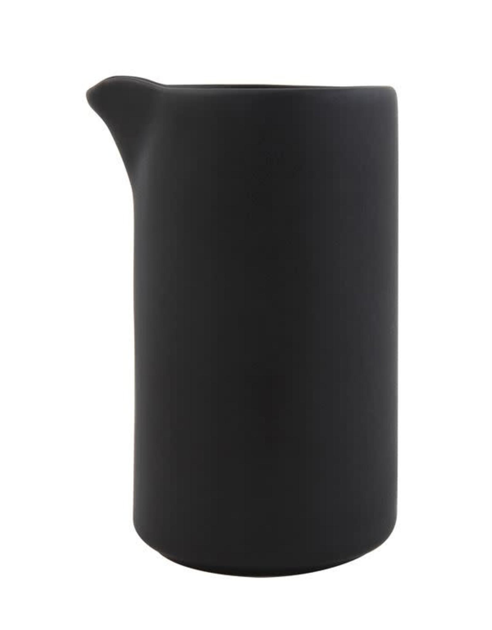 Stoneware Creamer 8 oz. - Matte Black