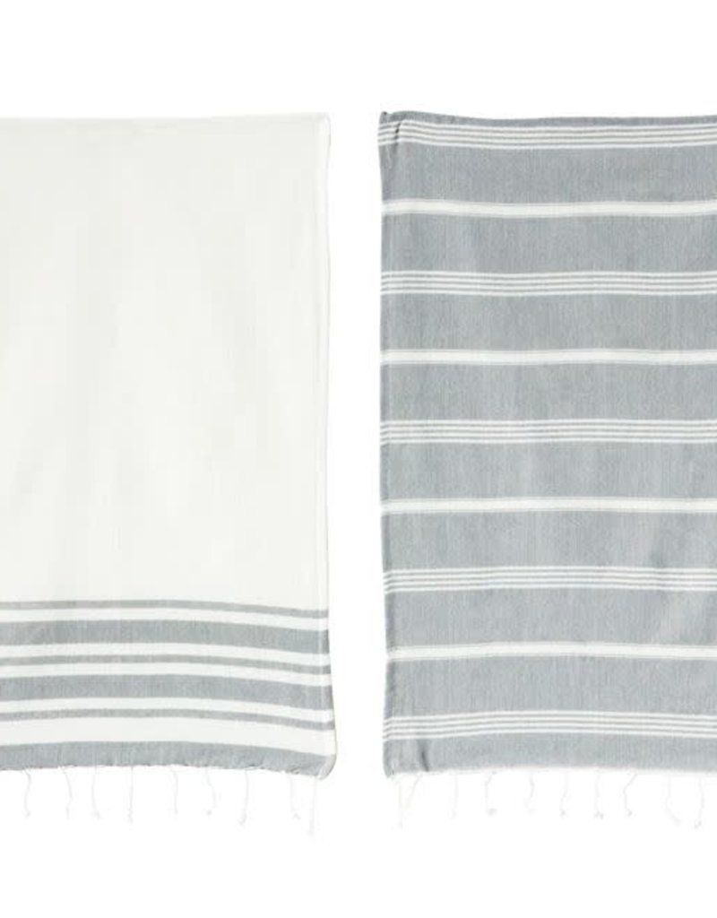 Set of 2 Tea Towel - Grey
