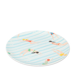 Swimmer Plate - 8''D - Set of 4