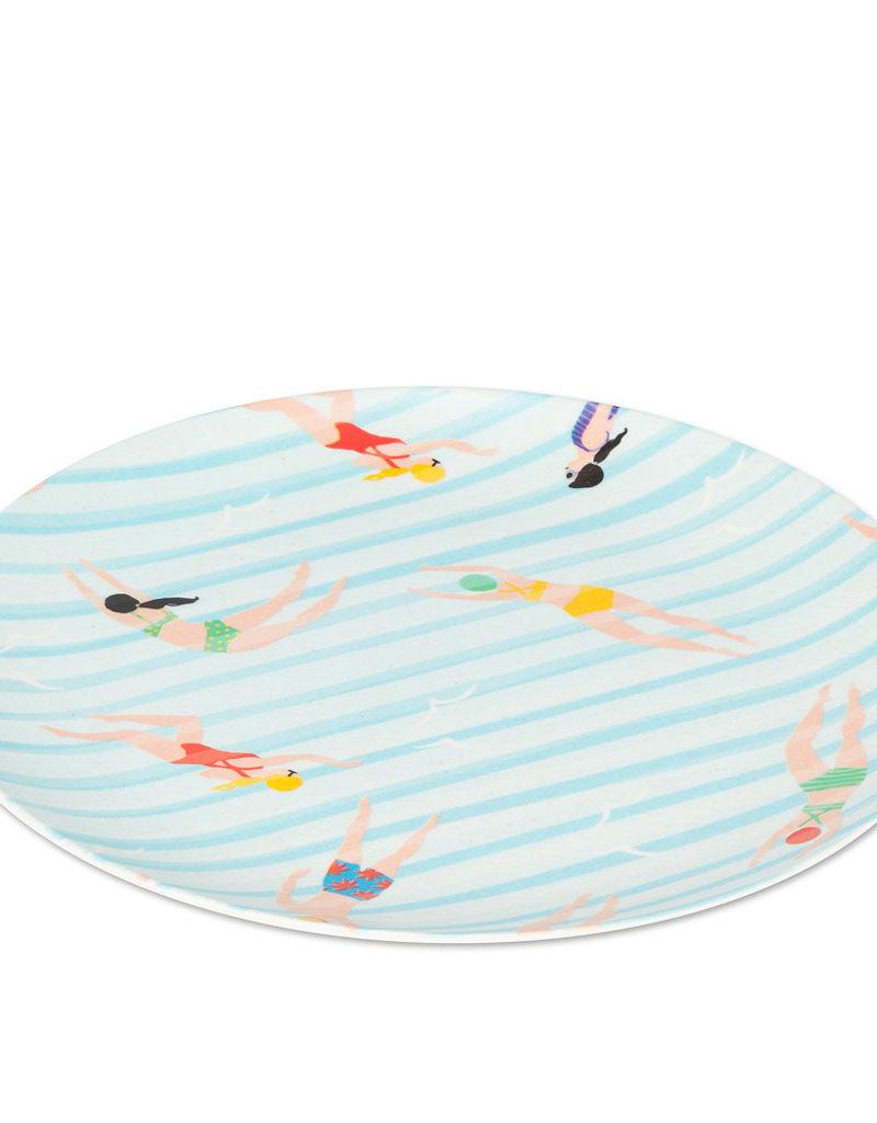 Swimmer Plate - 9-3/4''D - Set of 4