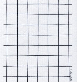 Ten and Co. Sponge Cloth Grid - Black