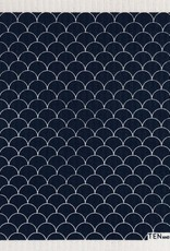 Ten and Co. Sponge Cloth Scallop - Black