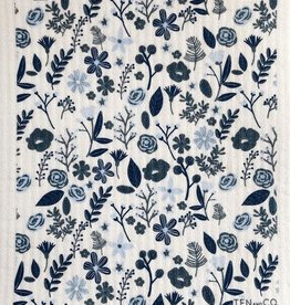 Ten and Co. Sponge Cloth - Floral Blue