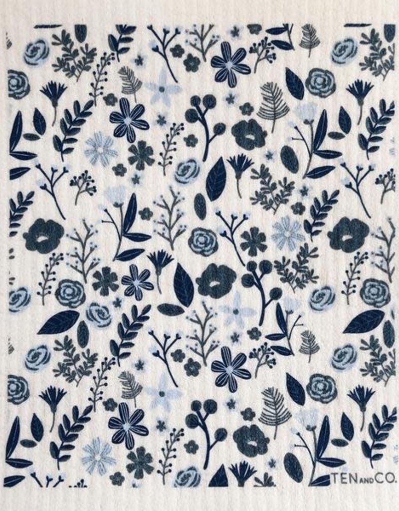 Ten and Co. Sponge Cloth Floral - Blue