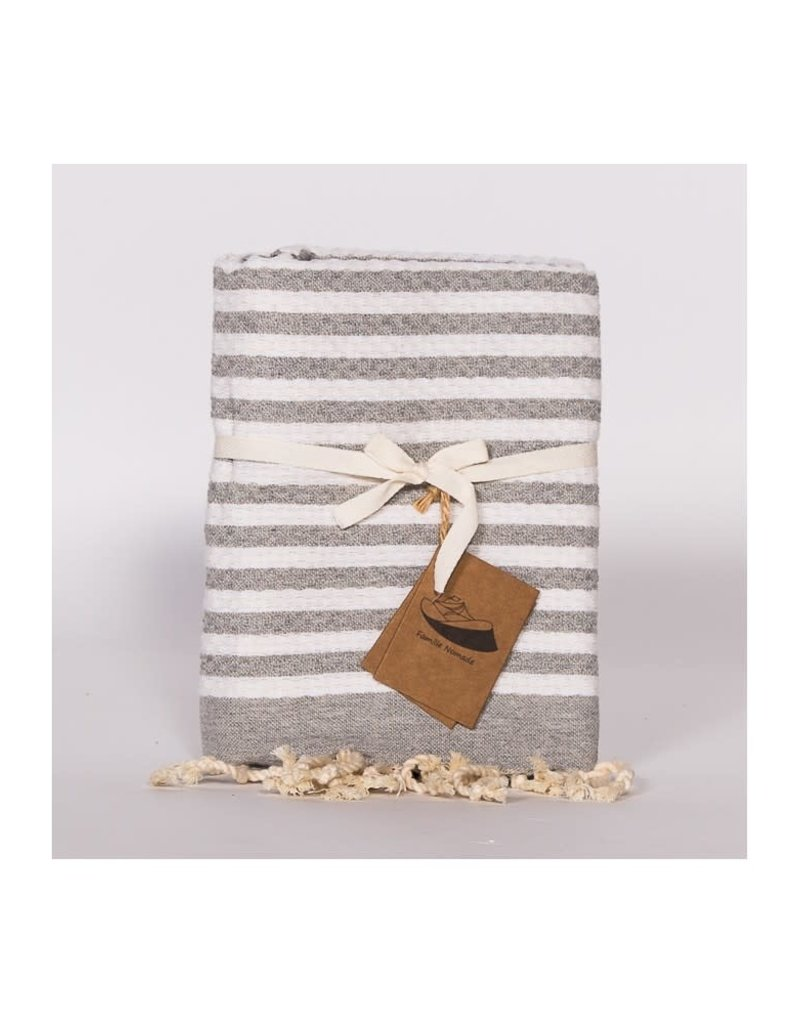 Famille Nomade Kid Fouta - Grey and White