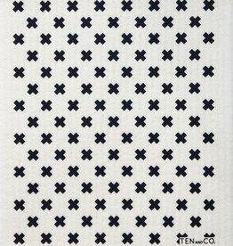 Ten and Co. Essuie-tout réutilisable - Petit X Noir