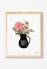 Joannie Houle Vase and Flowers - Art print 8x10''