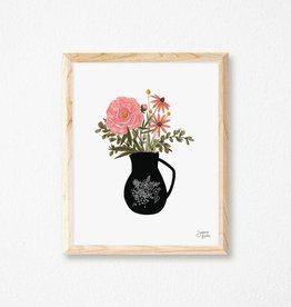 Joannie Houle Vase and Flowers - Art print 8x10''