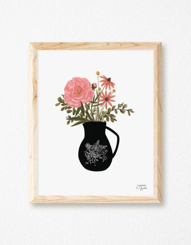 Joannie Houle Affiche Vase et fleurs  8x10''