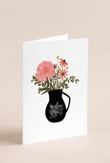 Joannie Houle Greeting card - Vase and Flowers