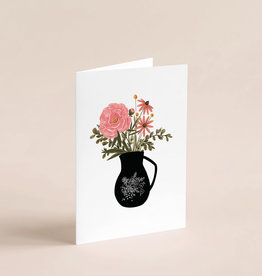 Joannie Houle Greeting card - Vase and Flowers
