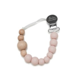 Loulou Lollipop Pacifier Clip - Dusty Rose