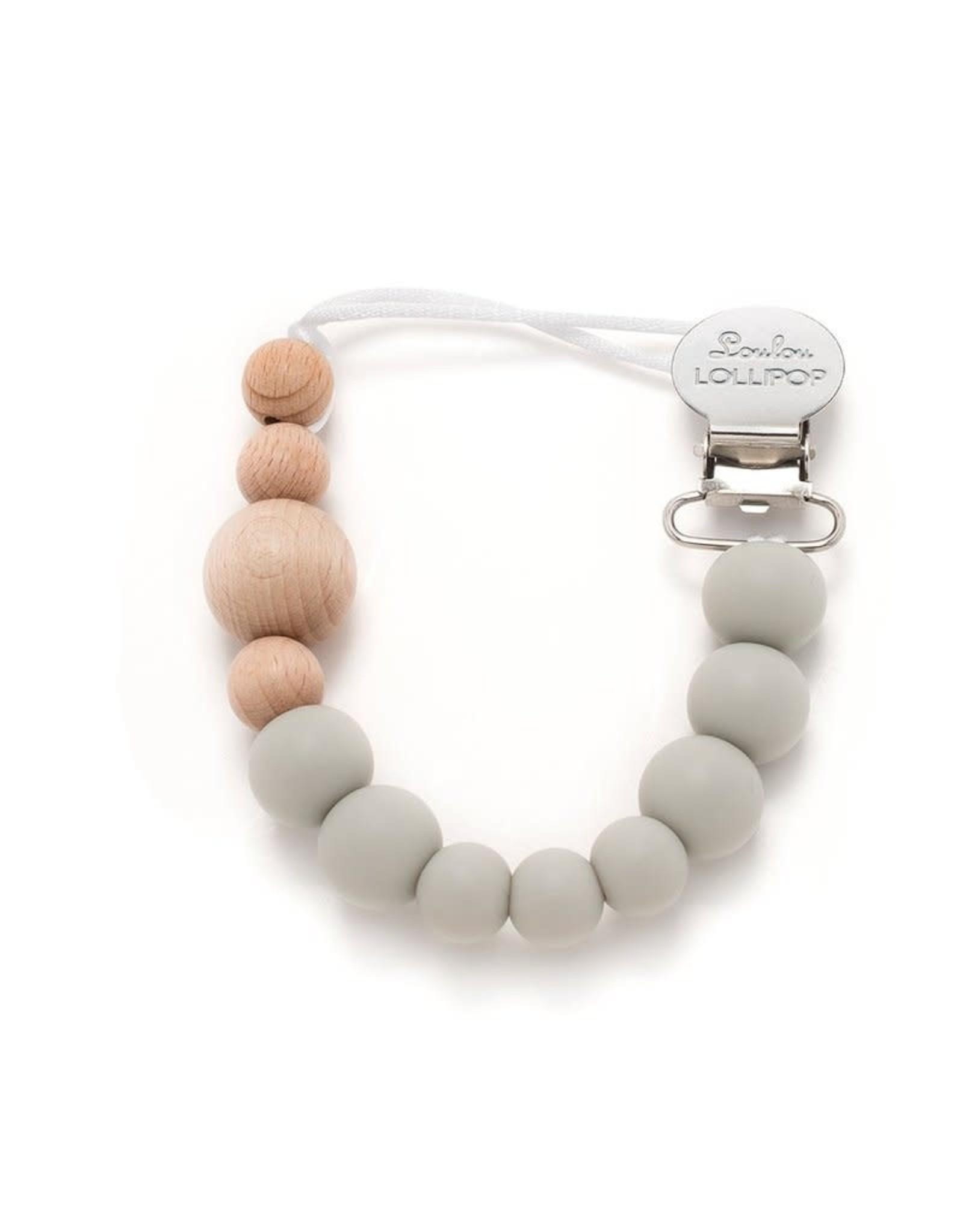 Loulou Lollipop Pacifier Clip - Gray