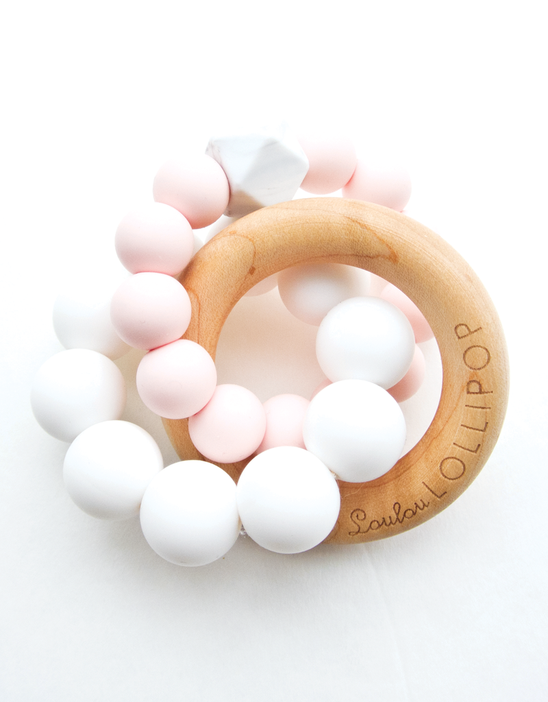 Loulou Lollipop Anneau de Dentition - Quartz Rose
