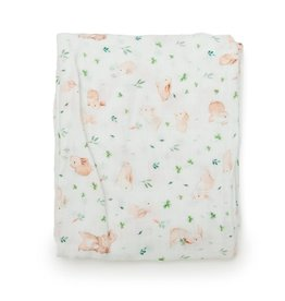 Loulou Lollipop Muslin Fitted Cribsheets - Bunny Meadow
