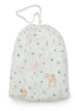 Loulou Lollipop Muslin Fitted Cribsheets - Bunny Meadow