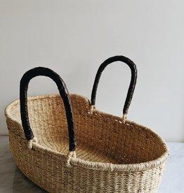 Bassinette pour Poupée avec Poignées de Cuir