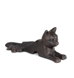 Laying Cat Door Wedge - Cast Iron