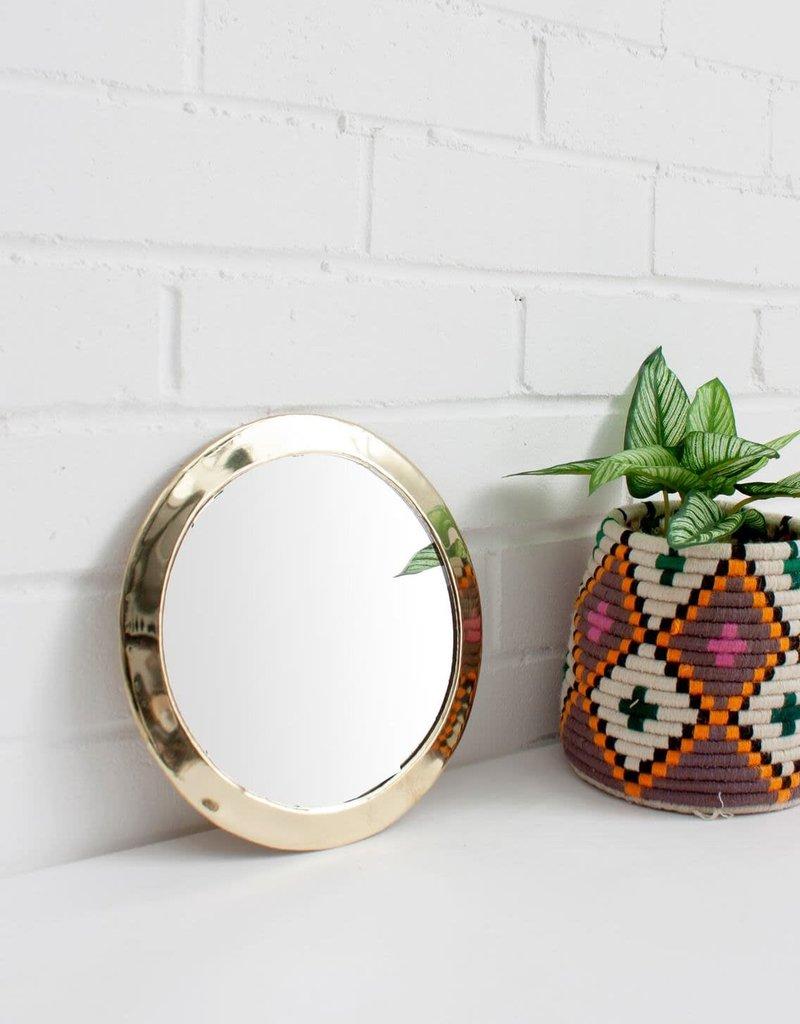 Maroccan Circle Mirror - Brass