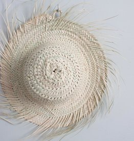 Fringed Palm Leaf Hat