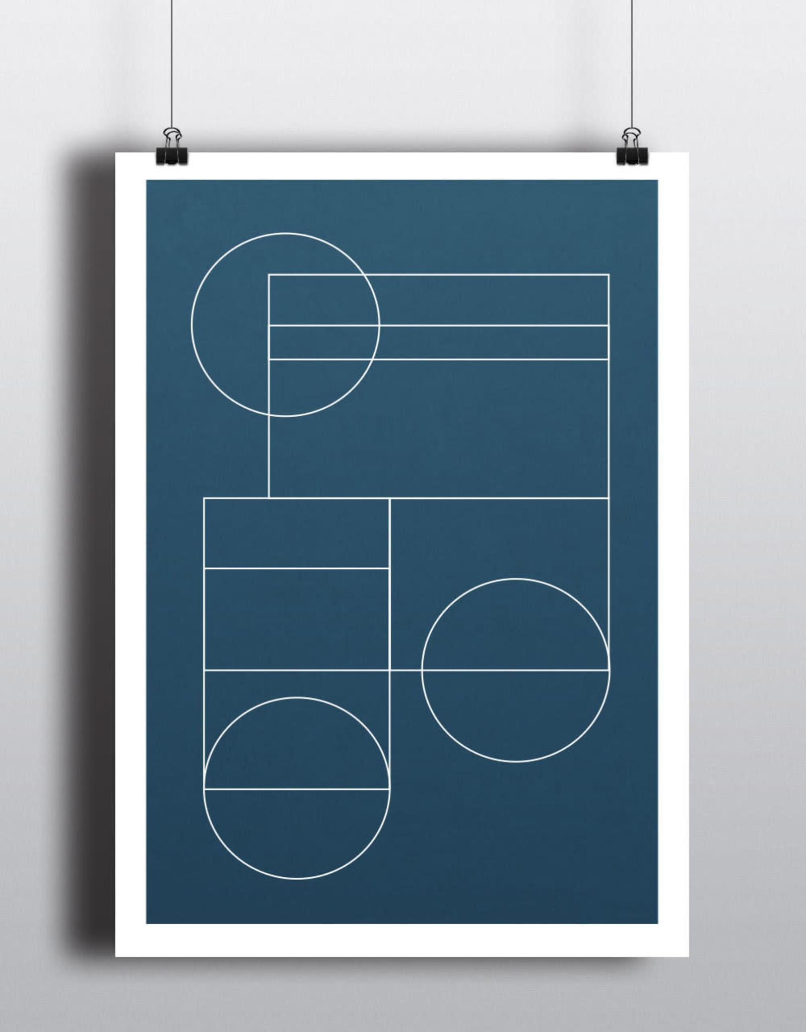 Toffie  Affichiste Poster Blue Geo