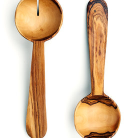Wild Olive Wood Pendulum Salad Servers - Set of 2