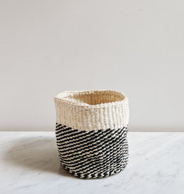 Black Twill Sisal Basket - Small