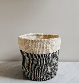 Black Twill Sisal Basket - Large