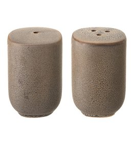 Stoneware Salt and Pepper Shakers Reactive Glaze