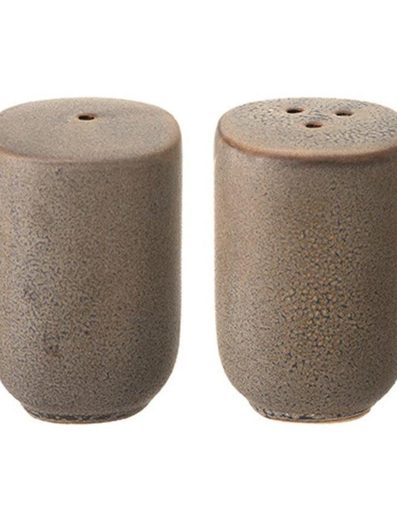 Stoneware Salt and Pepper Shakers Reactive Glaze