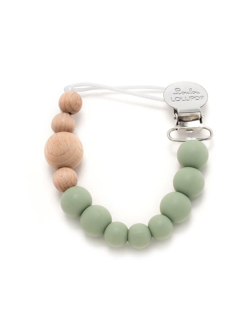 Loulou Lollipop Pacifier Clip - Sage