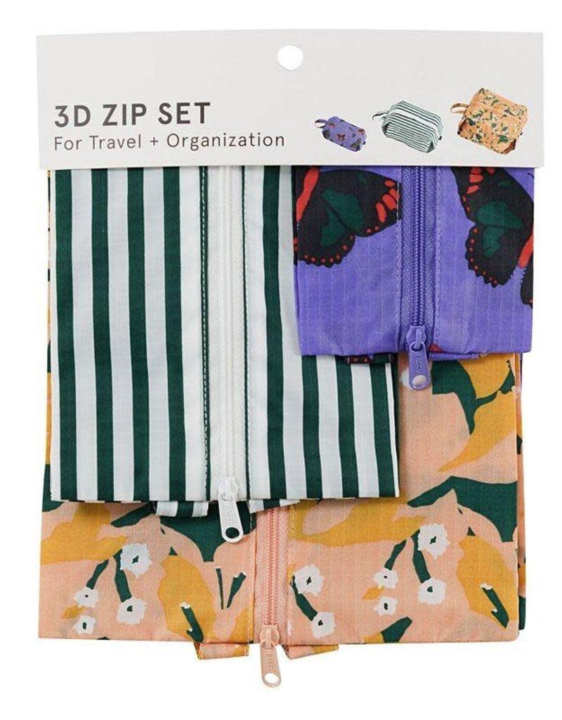 Baggu 3D Zip Set - Pool Side