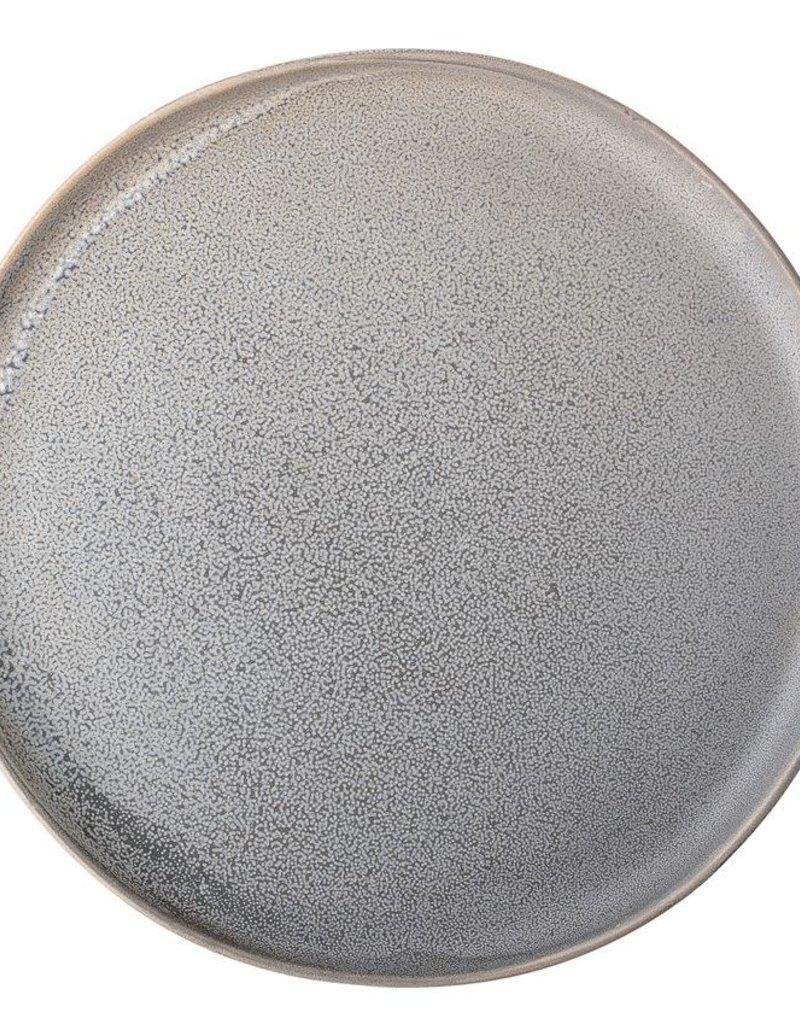 Round Stoneware Plate - Matte Grey - 7-3/4''