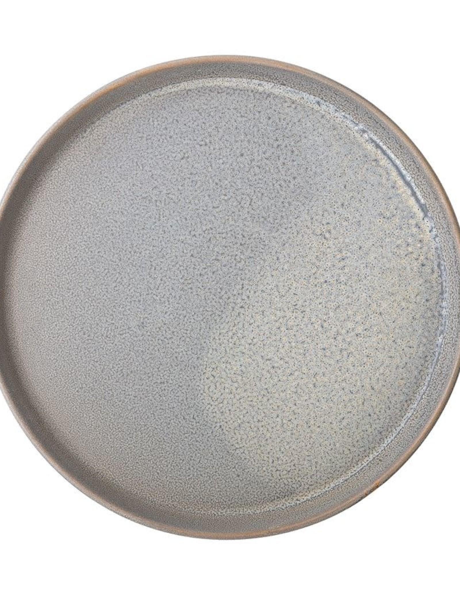 Round Stoneware Plate - Matte Grey - 10-3/4''