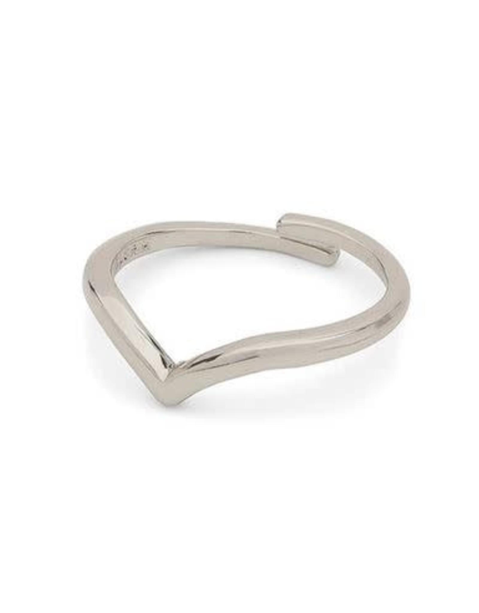Pilgrim Lulu Wishbone Ring - Silver