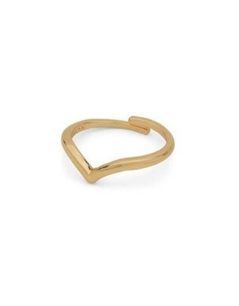 Pilgrim Lulu Wishbone Ring - Gold