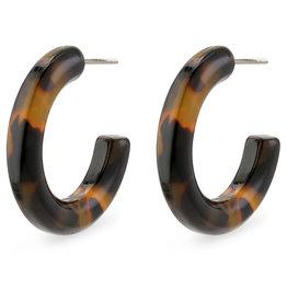 Pilgrim Tortoiseshell Earrings - Brown