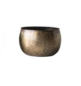 Metal Pot Antique Finish - Large