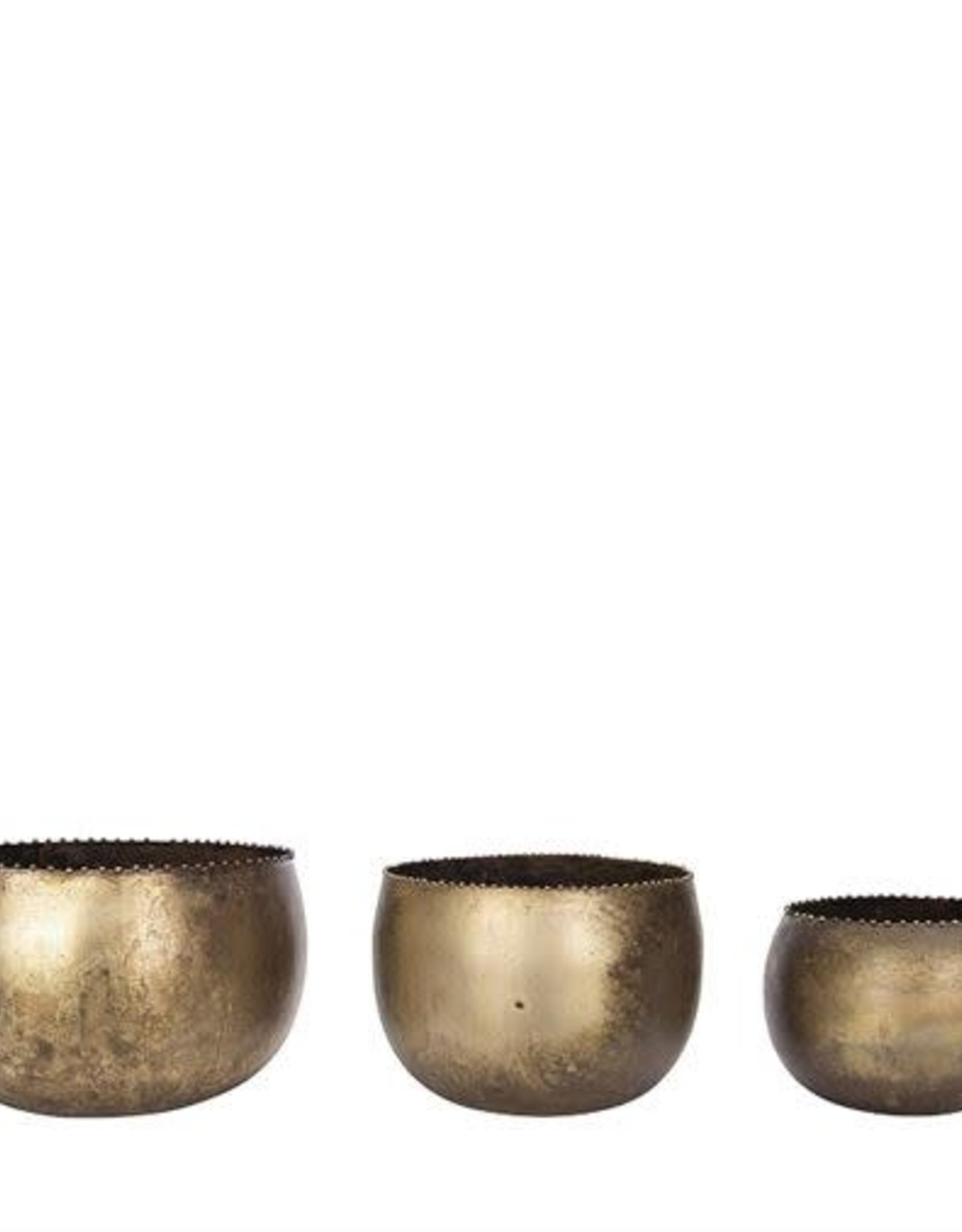 Metal Pot Antique Finish - Large
